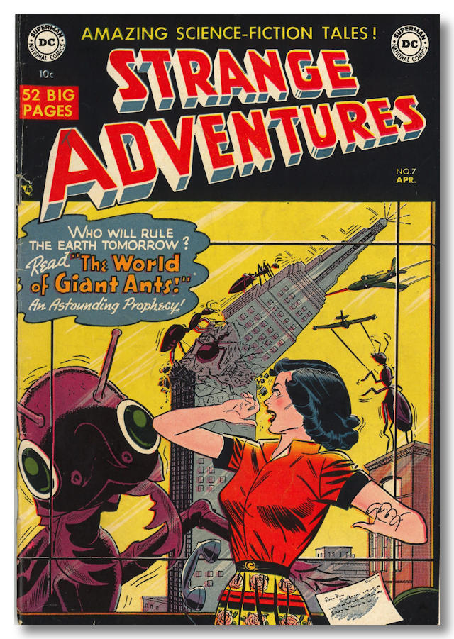 """The Man with 100 Lives,"" contained in STRANGE ADVENTURES NO. 7. Manly Wade Wellman."