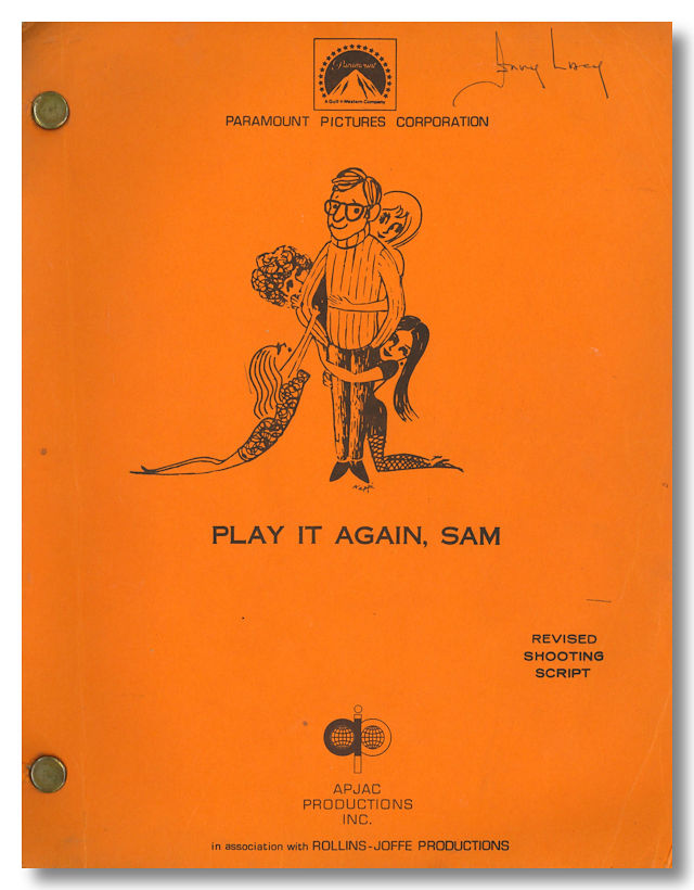 """PLAY IT AGAIN, SAM"" SCREENPLAY BY ... BASED ON A PLAY BY. sourcework, screenwriter."
