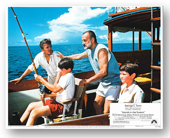 [Complete Set of Studio Lobby Cards for:] ISLANDS IN THE STREAM. Ernest Hemingway, sourcework.