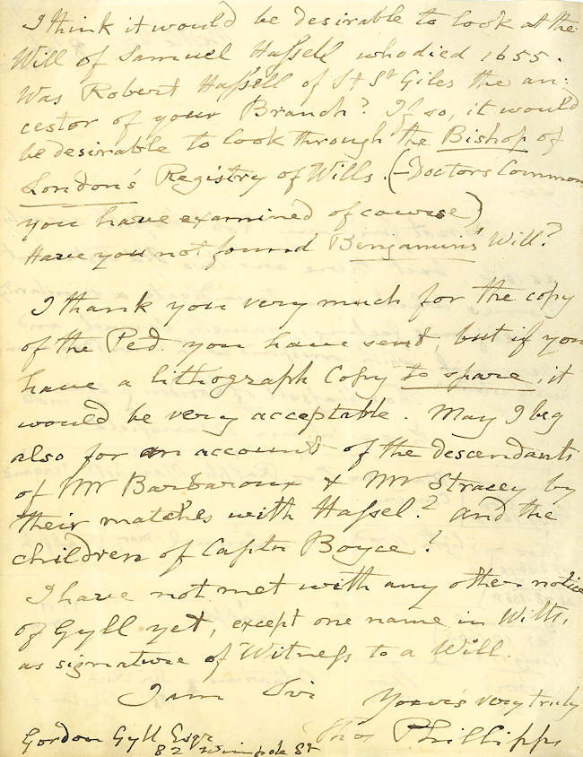 Autograph Letter, Signed]. Sir Thomas Phillipps