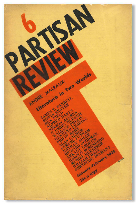 PARTISAN REVIEW A BI-MONTHLY OF REVOLUTIONARY LITERATURE. Partisan Review.