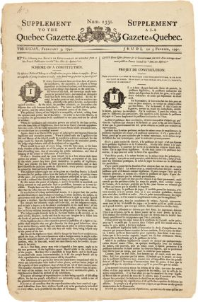 SUPPLEMENT TO THE QUEBEC GAZETTE. Num. 1331. Canada