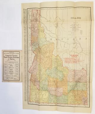 RAND, McNALLY & CO.'S INDEXED COUNTY AND RAILROAD POCKET MAP AND SHIPPERS' GUIDE OF IDAHO. Idaho