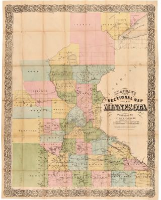 CHAPMAN'S SECTIONAL MAP OF MINNESOTA. Minnesota, Silas Chapman