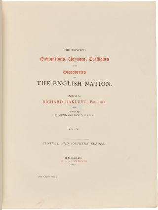 THE PRINCIPAL NAVIGATIONS, VOYAGES, TRAFFIQUES, AND DISCOVERIES OF THE ENGLISH NATION.