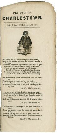 I'M OFF TO CHARLESTOWN [caption title]. Black Minstrel Song Sheet
