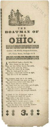 THE BOATMAN OF THE OHIO [caption title]. Black Minstrel Song Sheet