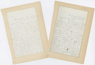 TWO AUTOGRAPH LETTERS, SIGNED, FROM COL. BRACKETT TO COL. RODENBOUGH ABOUT THEIR RESPECTIVE...