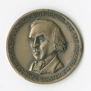 NEW HAMPSHIRE STATE CONSTITUTION COMMEMORATIVE MEDAL, BEARING PORTRAIT OF DANIEL WEBSTER]....