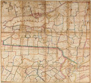 MAP OF THE STATE OF NEW YORK WITH PART OF THE STATES OF PENNSYLVANIA, NEW JERSEY &c. COMPILED,...
