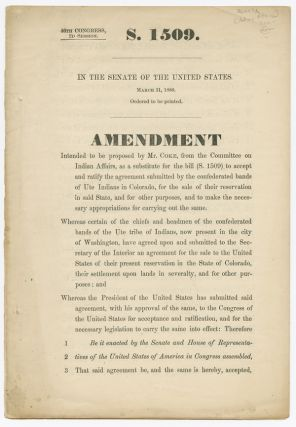AMENDMENT INTENDED TO BE PROPOSED BY MR. COKE, FROM THE COMMITTEE ON INDIAN AFFAIRS. Indian Affairs