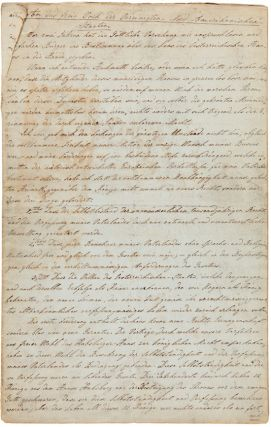 "MANUSCRIPT IN GERMAN OF KOSSUTH'S APPEAL FOR HUNGARIAN FREEDOM, TITLED ""AN DAS FREIE VOLK DER..."