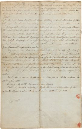 "[MANUSCRIPT IN GERMAN OF KOSSUTH'S APPEAL FOR HUNGARIAN FREEDOM, TITLED ""AN DAS FREIE VOLK DER VEREINIGTEN-NORD-AMERIKANISCHEN STAATEN,"" PREPARED BY LADISLAUS UGHAZI, A HUNGARIAN EXILE LIVING IN NEW-BUDA, IOWA]."