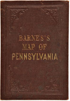 RAILROAD, CANAL & COUNTY MAP OF PENNSYLVANIA, NEW JERSEY & ADJOINING STATES.