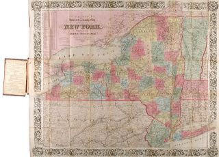COLTON'S RAILROAD & TOWNSHIP MAP OF THE STATE OF NEW YORK. WITH PARTS OF THE ADJOINING STATES &...