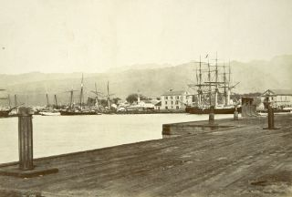 [FIFTEEN MOUNTED PHOTOGRAPHS, INCLUDING VIEWS OF HONOLULU, SAN FRANCISCO, THE CENTRAL PACIFIC RAILROAD, SALT LAKE CITY, AND NEW ZEALAND].