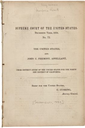 THE UNITED STATES, ADS. JOHN C. FREMONT, APPELLANT, FROM DISTRICT COURT OF THE UNITED STATES FOR...