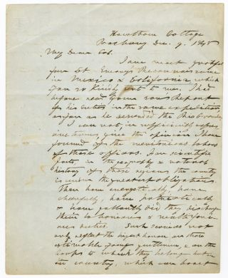 AUTOGRAPH LETTER, SIGNED, FROM HENRY ALEXANDER SCAMMELL DEARBORN TO JOHN JAMES ABERT, ON UNITED...