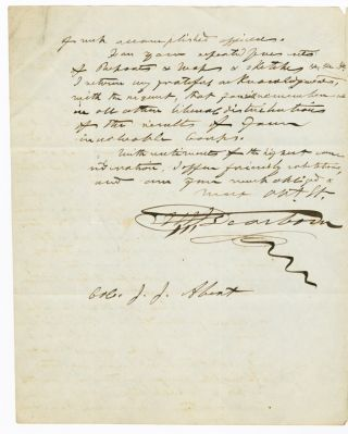 [AUTOGRAPH LETTER, SIGNED, FROM HENRY ALEXANDER SCAMMELL DEARBORN TO JOHN JAMES ABERT, ON UNITED STATES SURVEYING EXPEDITIONS].