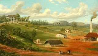 [CUBAN SUGAR PLANTATION]. Charles DeWolf Attributed to Brownell.