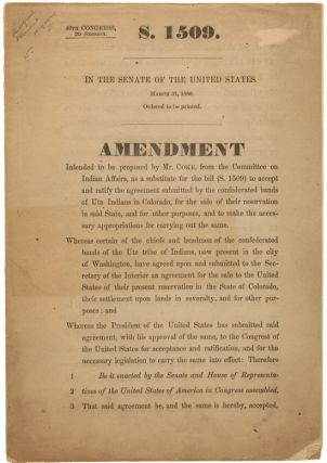 46th CONGRESS, 2d SESSION. S. 1509. IN THE SENATE OF THE UNITED STATES...AMENDMENT INTENDED TO BE...