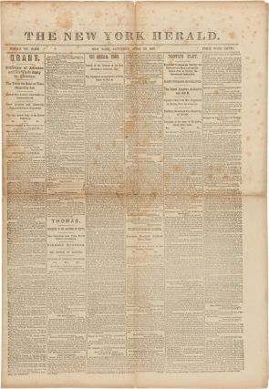 THE NEW YORK HERALD [caption title]. Abraham Lincoln