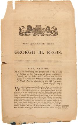 ANNO QUADRAGESIMO TERTIO GEORGII III. REGIS...AN ACT FOR EXTENDING THE JURISDICTION OF THE COURTS...