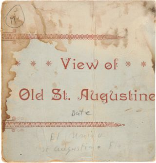 VIEW OF OLD ST. AUGUSTINE [wrapper title]. Florida