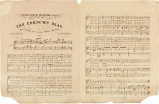 THE MUSICAL OLIO: OR FAVORITE GEMS OF THAT POPULAR SOUTHERN COMPOSER, JOHN H. HEWITT...THE UNKNOWN DEAD [wrapper title].