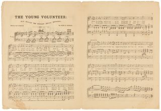 THE MUSICAL OLIO: OR FAVORITE GEMS OF THAT POPULAR SOUTHERN COMPOSER, JOHN H. HEWITT...THE YOUNG VOLUNTEER [wrapper title].