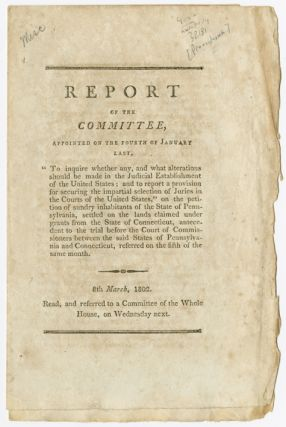 REPORT OF THE COMMITTEE...ON THE PETITION OF SUNDRY INHABITANTS OF THE STATE OF PENNSYLVANIA,...