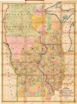 MAP OF THE STATES OF MISSOURI, ILLINOIS, IOWA, AND WISCONSIN: THE TERRITORY OF MINNESOTA, AND THE...