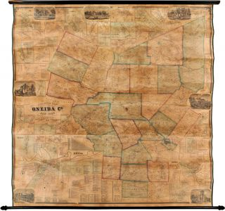 GILLETTE'S MAP OF ONEIDA CO. NEW YORK FROM ACTUAL SURVEYS UNDER THE DIRECTION OF J.H. FRENCH. S....