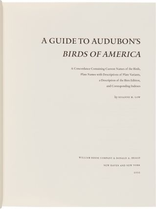 A GUIDE TO AUDUBON'S Birds of America....