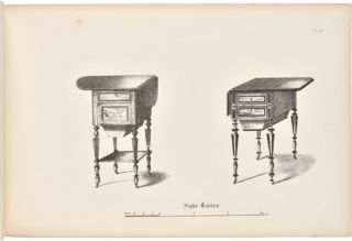 CABINET MAKER'S ALBUM OF FURNITURE; COMPRISING A COLLECTION OF DESIGNS FOR THE NEWEST AND MOST ELEGANT STYLES OF FURNITURE.
