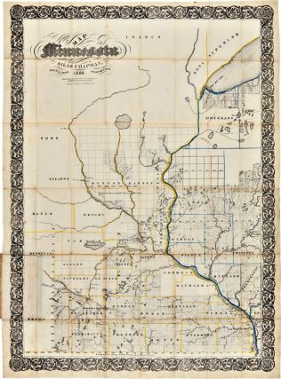 CHAPMAN'S SECTIONAL MAP OF MINNESOTA. Silas Chapman, Minnesota