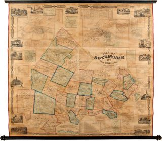 MAP OF ROCKINGHAM CO. NEW HAMPSHIRE FROM PRACTICAL SURVEYS. J. Chace, Jr