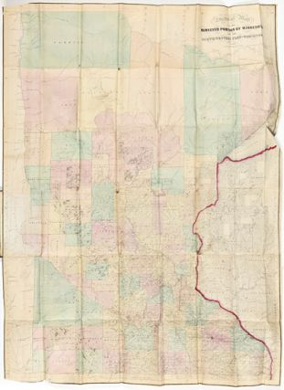SECTIONAL MAP OF THE SURVEYED PORTION OF MINNESOTA AND THE NORTHWESTERN PART OF WISCONSIN. J. S....