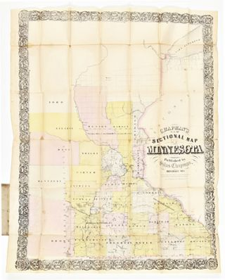 CHAPMAN'S NEW SECTIONAL MAP OF MINNESOTA. Minnesota, Silas Chapman
