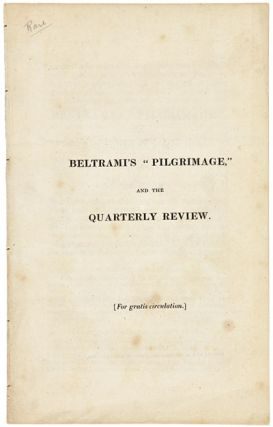"BELTRAMI'S ""PILGRIMAGE,"" AND THE QUARTERLY REVIEW. J. C. Beltrami"