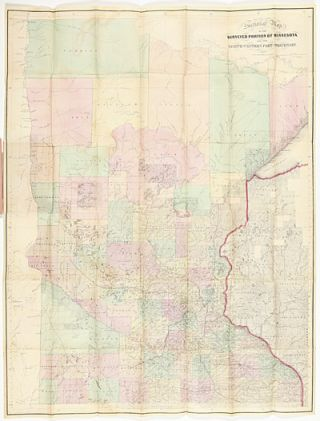 SECTIONAL MAP OF THE SURVEYED PORTION OF MINNESOTA AND THE NORTH WESTERN PART OF WISCONSIN. J. S....