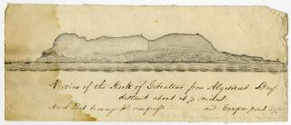 A VIEW OF THE ROCK OF GIBRALTAR FROM ALGESIRAS BAY...[manuscript caption title]. Gibraltar