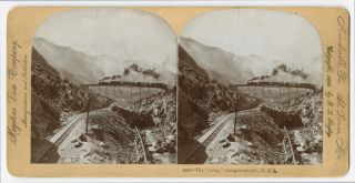 "THE ""LOOP,"" GEORGETOWN, COL., U.S.A. [caption title]. Colorado Railroad Stereocard"
