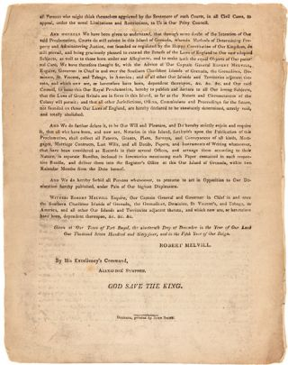 EXTRACT FROM THE DEFINITIVE TREATY OF PEACE AND FRIENDSHIP...CONCLUDED AT PARIS THE 10th DAY OF FEBRUARY, 1763...EXTRACT FROM THE DEFINITIVE TREATY OF PEACE AND FRIENDSHIP...SIGNED AT VERSAILLES THE 3d DAY OF SEPTEMBER, 1783...A PROCLAMATION. GEORGE THE THIRD...TO ALL OUR LOVING SUBJECTS...[caption titles].