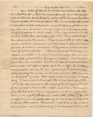 AUTOGRAPH LETTER, SIGNED, FROM THOMAS JEFFERSON TO JAMES L. EDWARDS OF BOSTON, REFUSING DEMANDS...