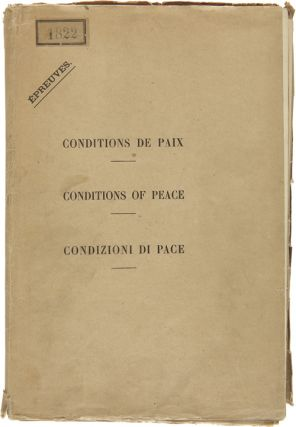 CONDITIONS OF PEACE WITH AUSTRIA [caption title printed in English, French, and Italian]. World...
