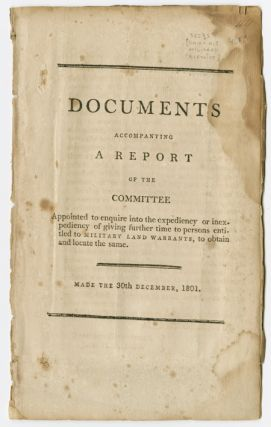 DOCUMENTS ACCOMPANYING A REPORT OF THE COMMITTEE APPOINTED TO ENQUIRE INTO THE EXPEDIENCY OR...