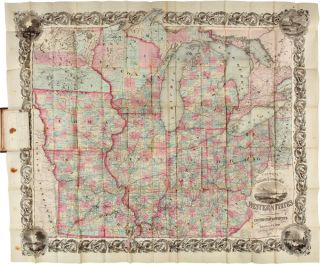 COLTON'S RAILROAD & TOWNSHIP MAP WESTERN STATES COMPILED FROM THE UNITED STATES SURVEYS. J. H....