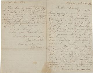 AUTOGRAPH LETTER, SIGNED, FROM GEORGE CATLIN TO AMERICAN ARTIST GEORGE HARVEY, RELATING AN OFFER...