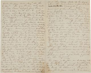 [AUTOGRAPH LETTER, SIGNED, FROM GEORGE CATLIN TO AMERICAN ARTIST GEORGE HARVEY, RELATING AN OFFER FROM THE FRENCH EMPEROR TO BUY CATLIN'S AMERICAN INDIAN PAINTINGS].